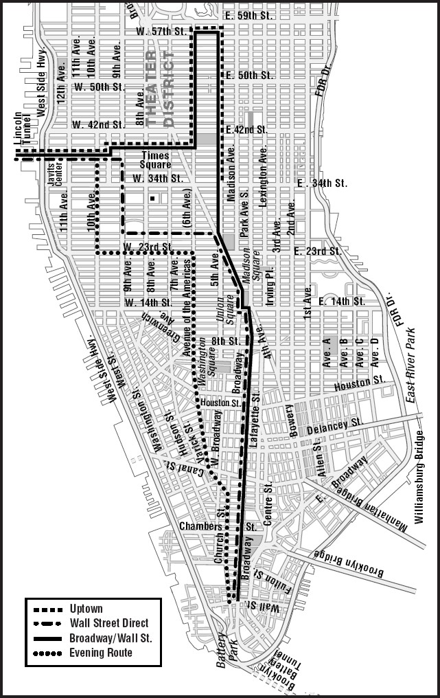 NYC Route Map
