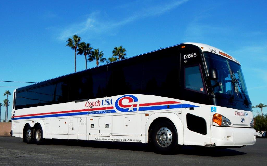 Coach USA charter bus rentals