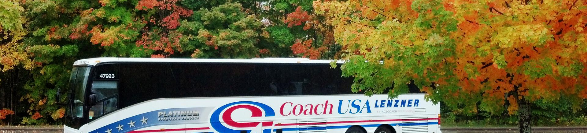 Coach USA school and college group charter buses